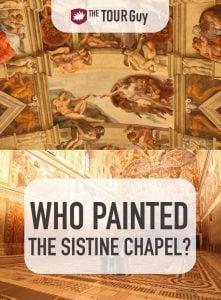 Painted Sistine Chapel Pinterest