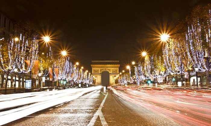 champs elysees christmas