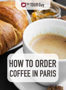 Coffee in Paris Pinterest