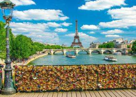The Love Lock Bridge and Other Famous Bridges in Paris