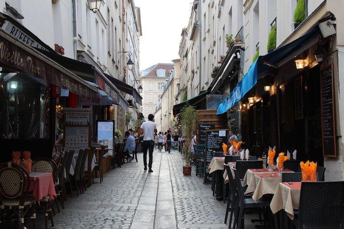 Rue Mouffetard in Paris, France