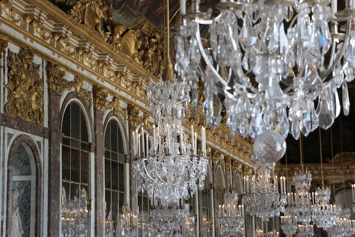 Hall of Mirrors in the Palace of Versailles, France