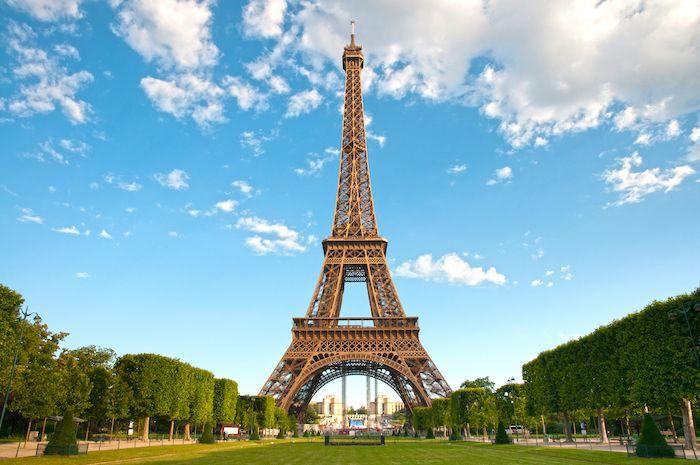Eiffel Tower Park in Paris