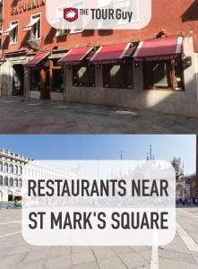 Restaurants Near St Marks Square Pinterest