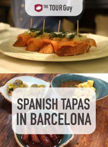 Spanish Tapas in Barcelona Pinterest