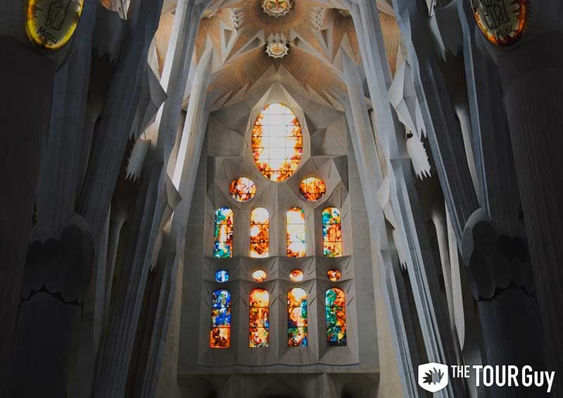 Stained Glass Windows in Sagrada Familia Barcelona
