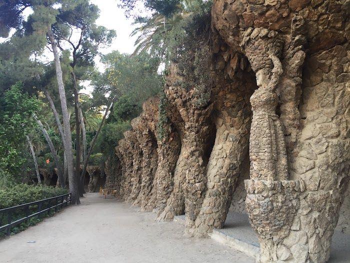 Columns at Park Guell
