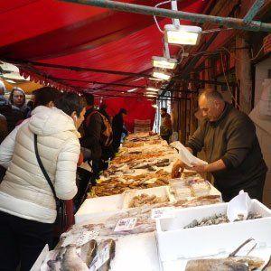 Rialto Fish Market in Venice, Italy