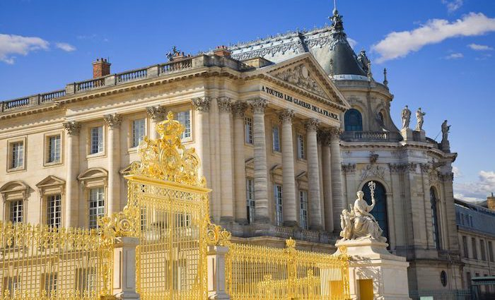 Palace of Versailles Gates Adorned with Gold