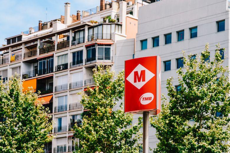 Barcelona metro stop