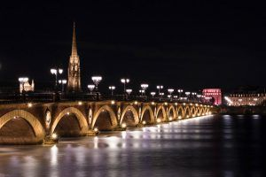 Bordeaux Bridge at Night