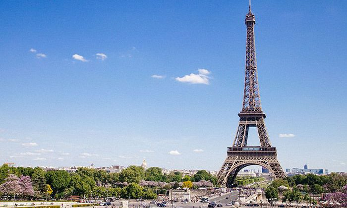 Eiffel Tower on a Beautiful Day