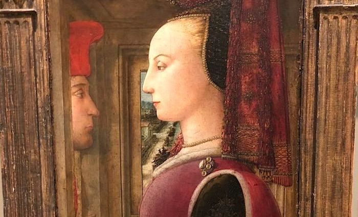 Portrait of a Woman with a Man at a Casement by Fra Filippo Lippi