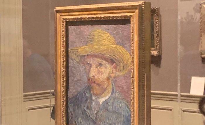 Van Gogh in a straw hat at the MET
