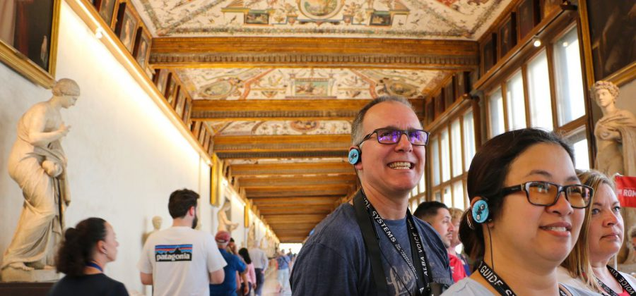 Corridor of the Uffizi Musuem wth The Tour Guy