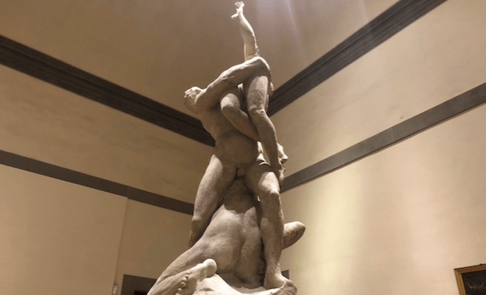 Plaster Cast of Rape of the Sabines Giambologna Accademia