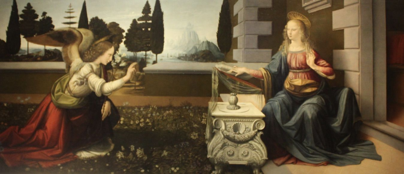 The-Annunciation-by-Leonardo-da-Vinci-The-Tour-Guy-Uffizi-Tour