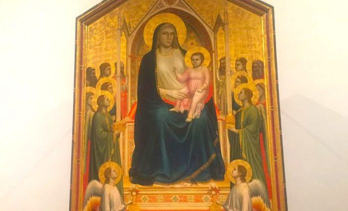 The-Ognissanti-Madonna-by-Giotto- Uffizi Tour
