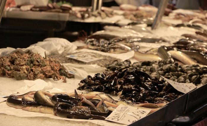 Seafood Variety Rialto Market Venice