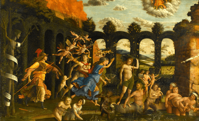 Andrea Mantegna Minerva Expelling the Vices from the Garden of Virtue Wikimedia Commons 700 x 425