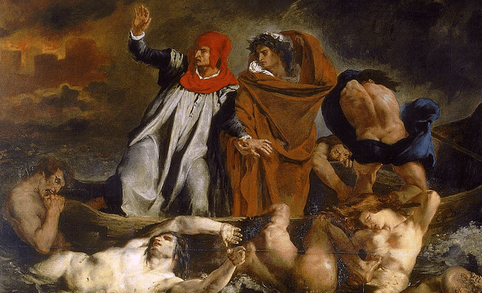 Dante and Virgil in Hell Delacroix Wikimedia Commons 700 x 425