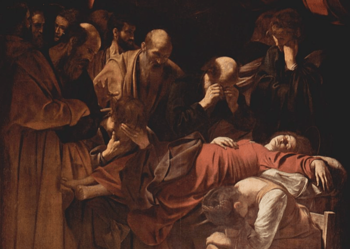 Death of the Virgin Caravaggio 700