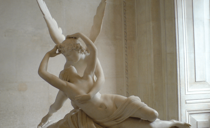 Pysche Revived by Cupids Kiss 700 x 425 Canova Louvre