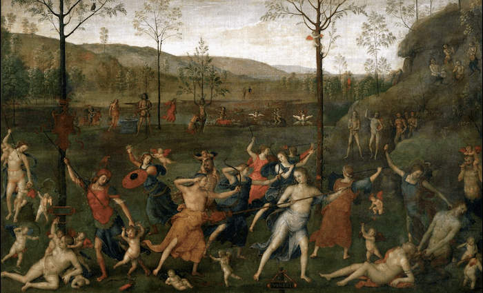 The Battle Between Love and Chastity 700 x 425 Perugino Wikimedia Commons