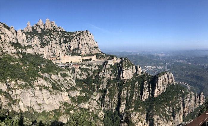 Montserrat monastery panaramic view