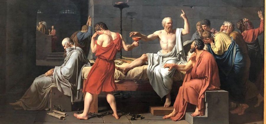 The Death of Socrates at the MET